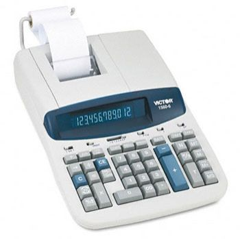 "VICTOR 1560-6 Two Color Commercial Printing Calculator. <font color=""#FF0000"">*NEW*</font>"
