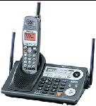 Panasonic KX-TG6500B Cordless 5.8 MGz 2 Line Phone with CID, ASN and Expandable.