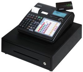 "Casio TK-1550 Mid Line  Dual Station Thermal Cash Register with 72 Depts & 2000 PLU's.<font color=""#FF0000"">*NEW*</font>"