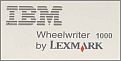 IBM Wheelwriter 1000 Typewriter.