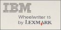 IBM Wheelwriter 15 Typewriter Seal.