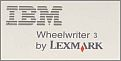 IBM Lexmark Wheelwriter 3 Typewriter Seal.