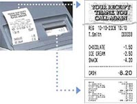 Casio Cash Register Journal Receipt.