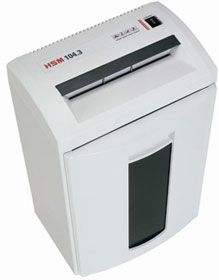 "HSM 104.3SC Strip Cut Paper Shredder with 24 Sheet Capacity & 9.5"" Throat. <font color=""#FF0000"">*NEW*</font>"