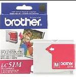 Brother LC51M Magenta InkJet Cartridge.