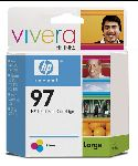 HP 97 Tri-Color Inkjet Print Cartridge with Vivera Inks