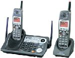 Panasonic KX-TG6502B Cordless 5.8 GHz 2-Line Phone with CID, Expand and 2 Handsets.